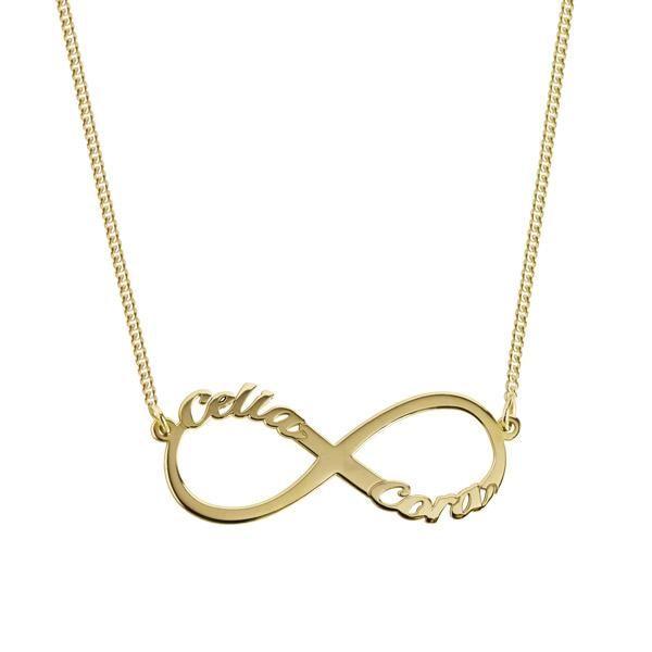 3a6cb8a0827a Collar Personalizado Infinito 2 Nombres Oro